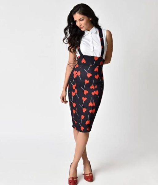 heart suspender skirt