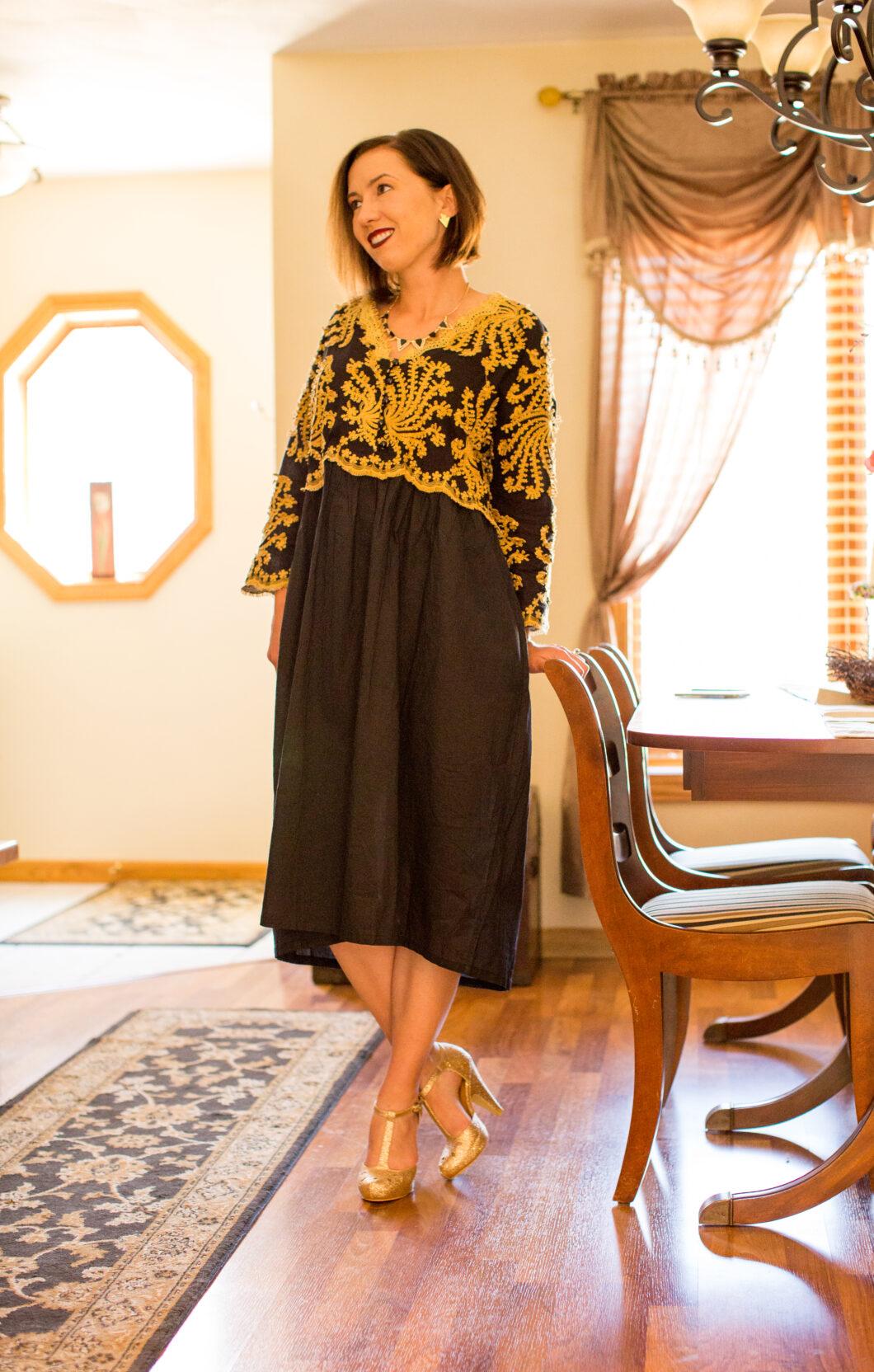 Evatrends smock formal comfortable dress