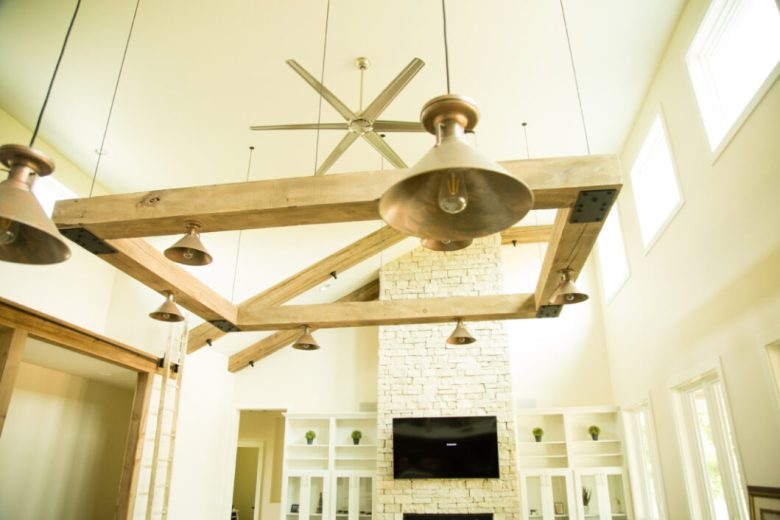 barn beam chandelier