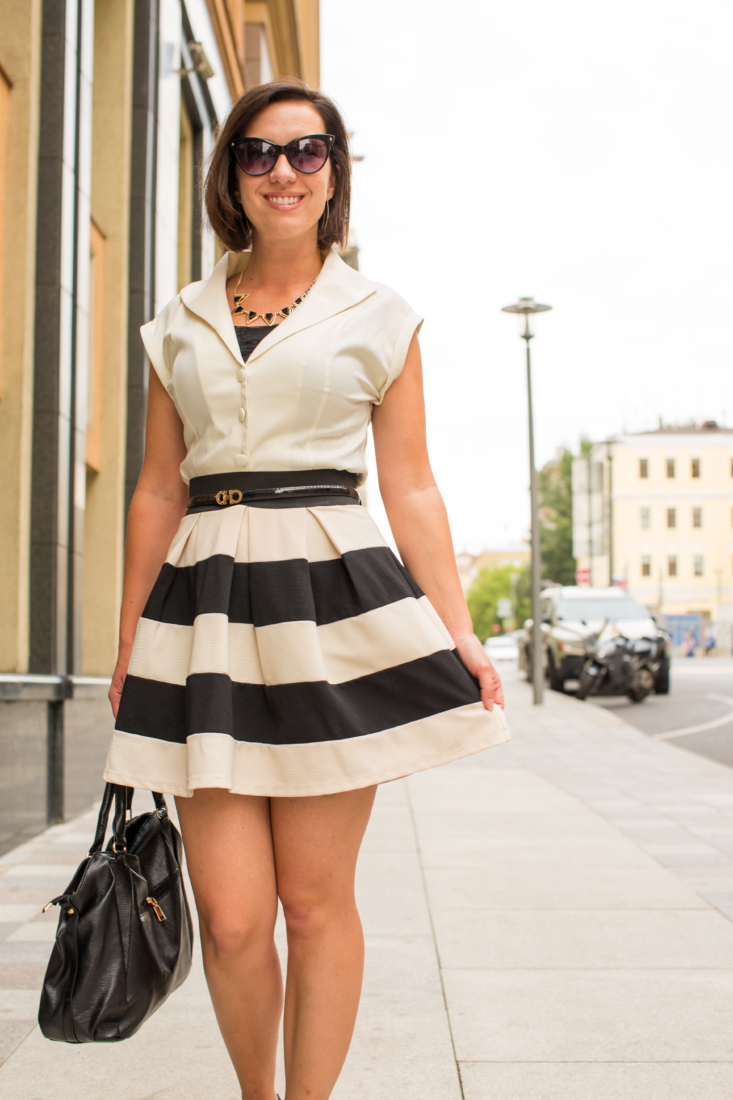 Black and white classic outfit