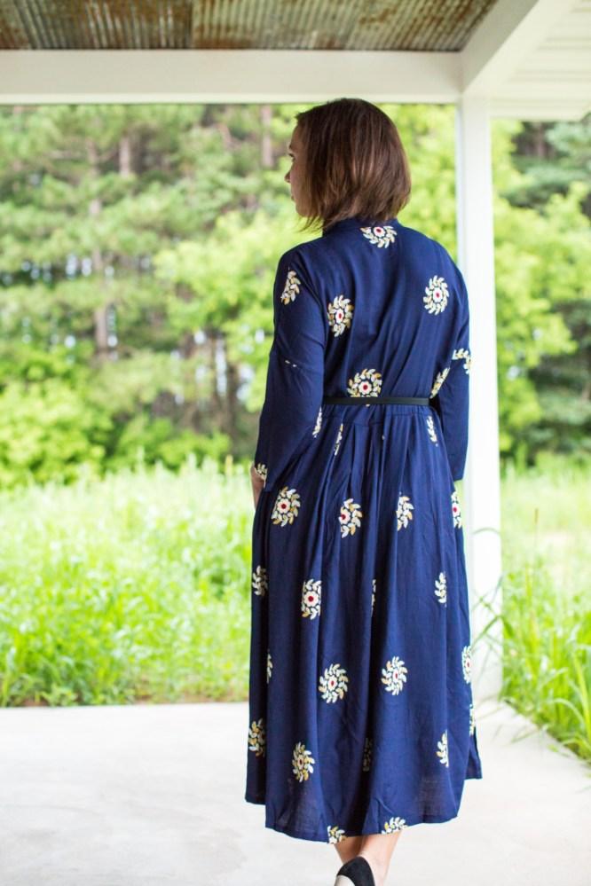 EvaTrends floral midi dress