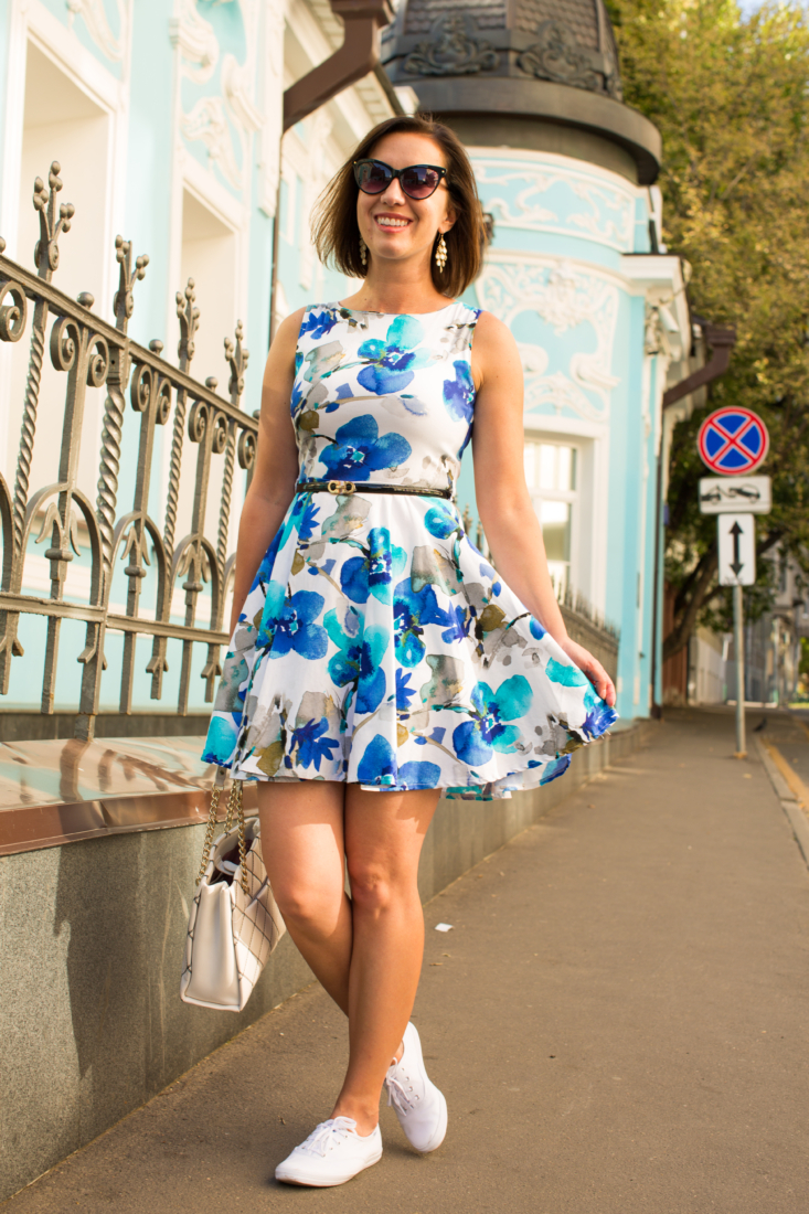 Pairing a Dress with Sneakers