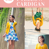 1 Yellow Cardigan Styled 12 Different Ways