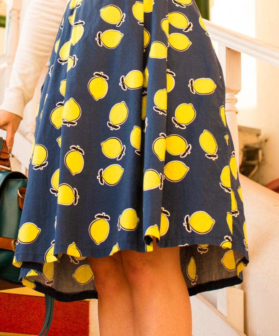 Styling a Lemon Print Dress