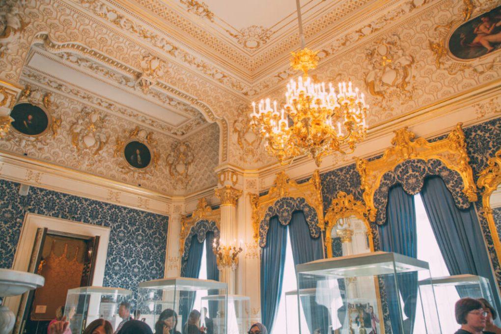 The Blue Room inside Shuvalov Palace