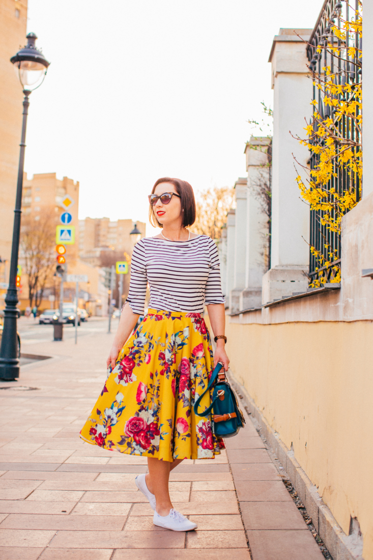 Pattern & Print Mixing - How to Wear Stripes & Florals Together