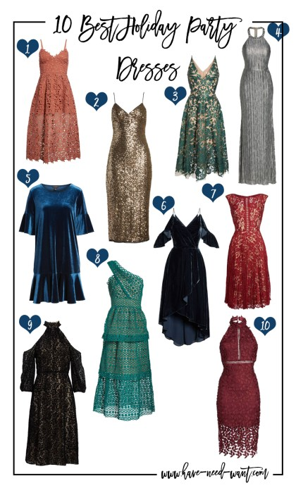 10 Best Holiday Party Dresses