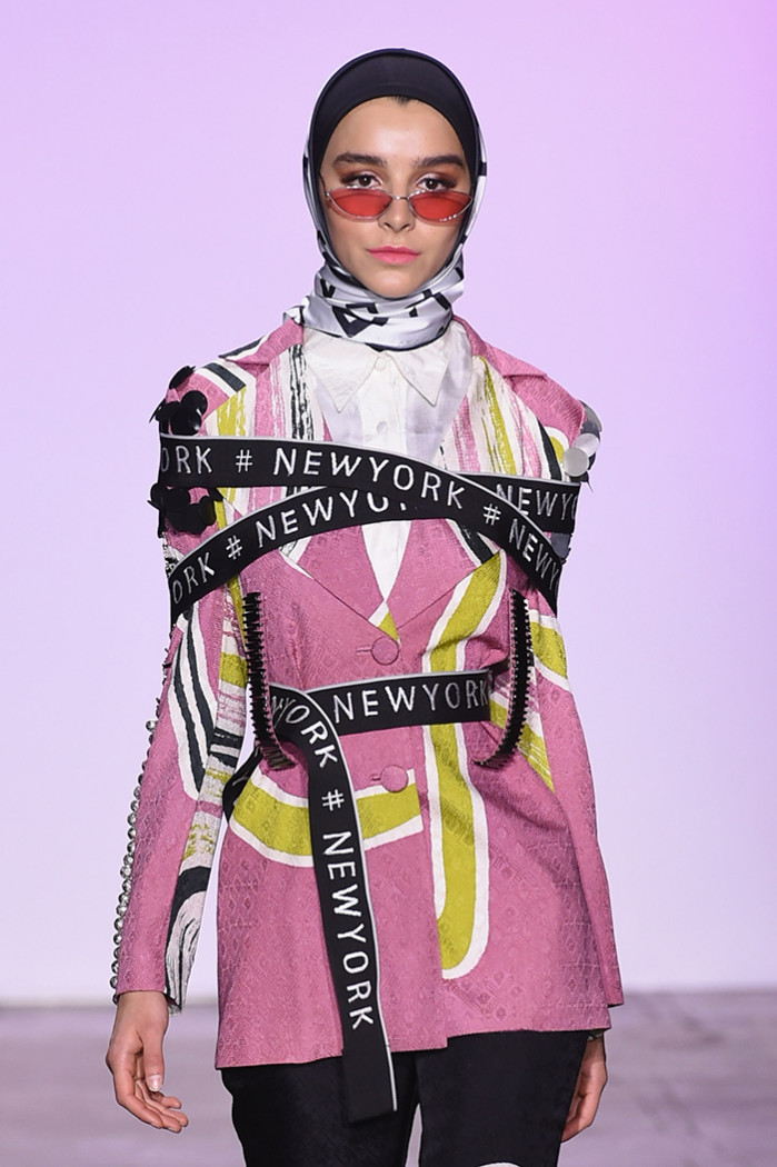 NEW YORK, NY - FEBRUARY 07: A model walks the runway for Dian Pelangi at the Indonesian Diversity FW19 Collections: 2Madison Avenue, Alleira Batik, Dian Pelangi and Itang Yunas fashion show during New York Fashion Week: The Shows at Industria Studios on February 7, 2019 in New York City. (Photo by Yuchen Liao/Getty Images for Indonesian Diversity)