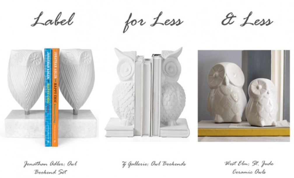 label for less owl shelf decor