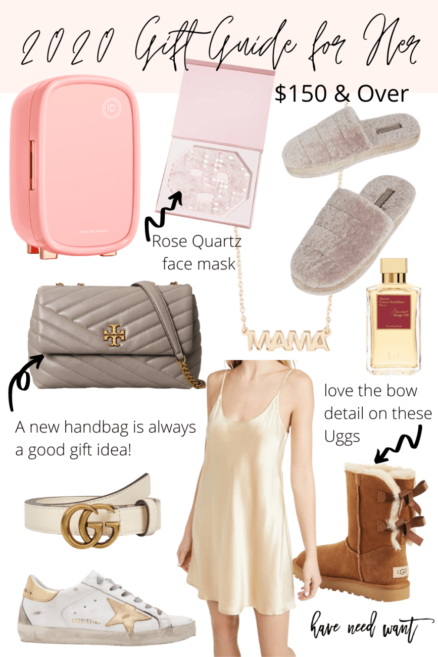 2020 gift guide for her! Sharing great gift ideas $150 and over for the luxury lover on HNW! #giftguide #giftsforher