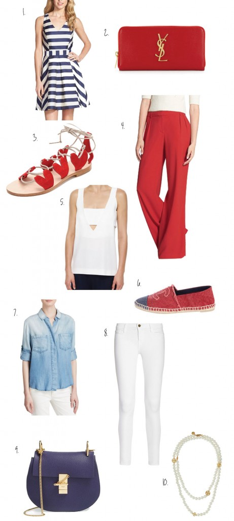 Outfit Inspiration, Red White and Blue, Fourth of July, Fashion Blogger, 4th of July Style