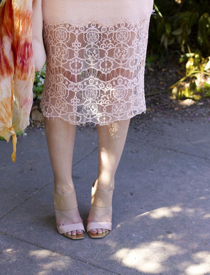 ASTR Rachel Zoe French Connection Peach on Peach Fashion Blogger Monochrome Outfit Ideas 9