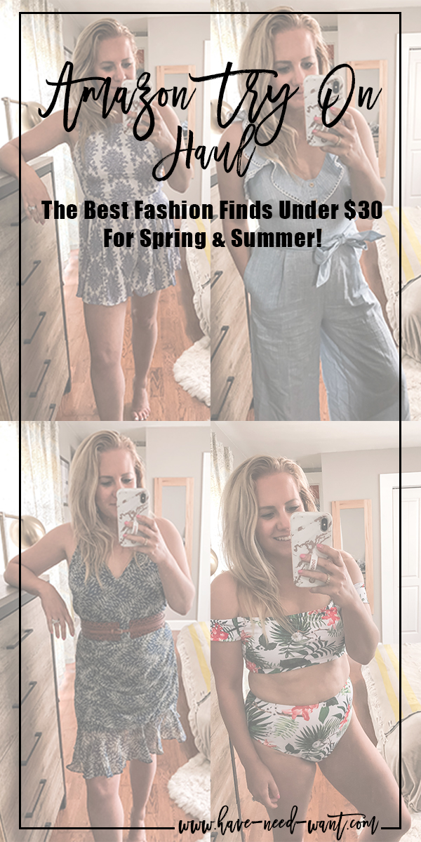 Amazing Amazon Fashion Finds All Under $30! Head over to the blog to check out all my finds!! #amazonfashion #tryonhaul #tryonsession #amazontryonhaul #amazonfinds #fashionunder30 #affordablefashion #affordablespringfashion