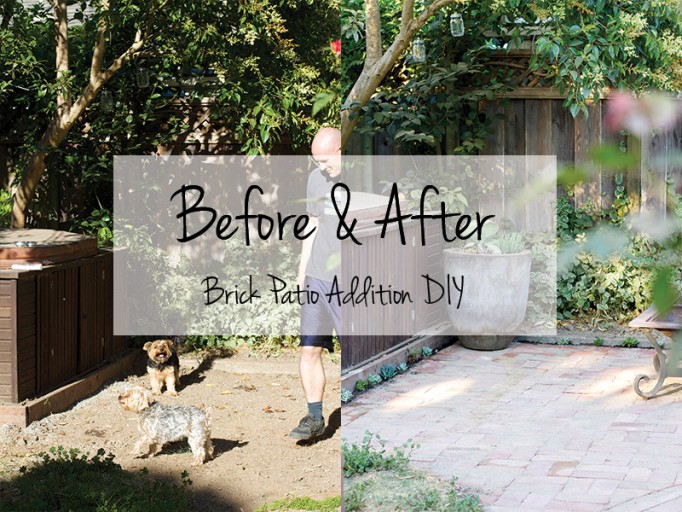 Before and After: Brick Patio Addition DIY