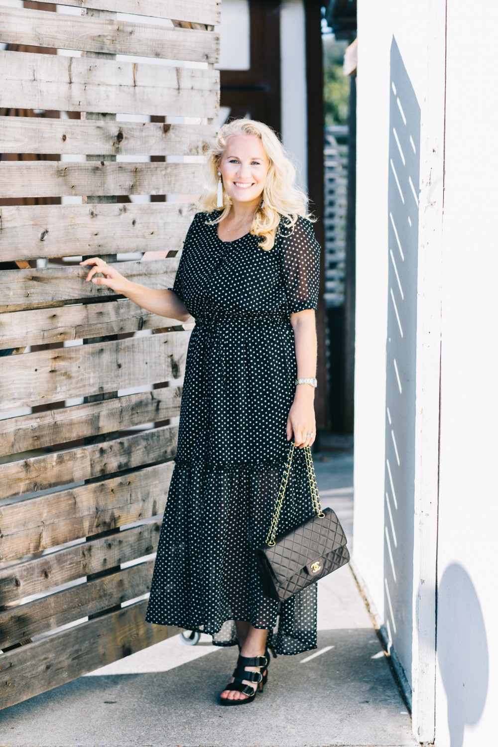 Black and White Polka Dot Maxi Dress-Who What Wear for Target-Target Maxi Dress-Polka Dot Dress-Outfit Inspiration-Bay Area Fashion Blogger-Have Need Want 7
