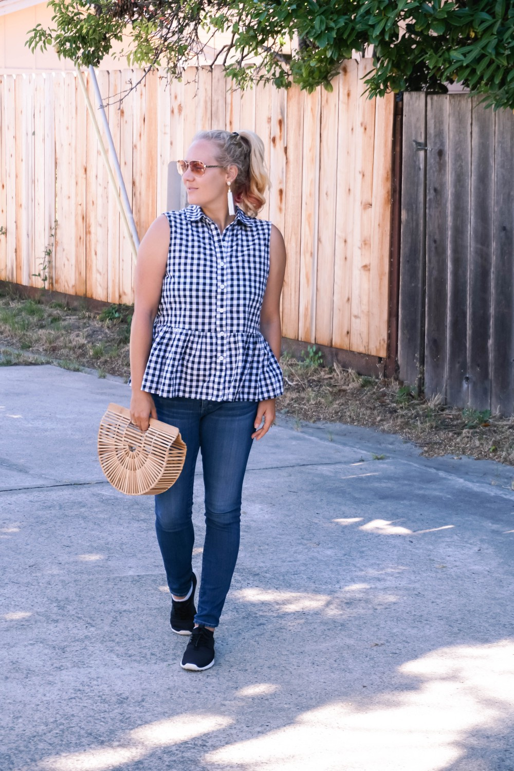 Blogger Off Duty-Daily Outfit Series-Have Need Want-Romwe Gingham Bow Top-Gingham Top-Summer Style-Mom Style-Stylish Moms-Outfit Inspiration 3