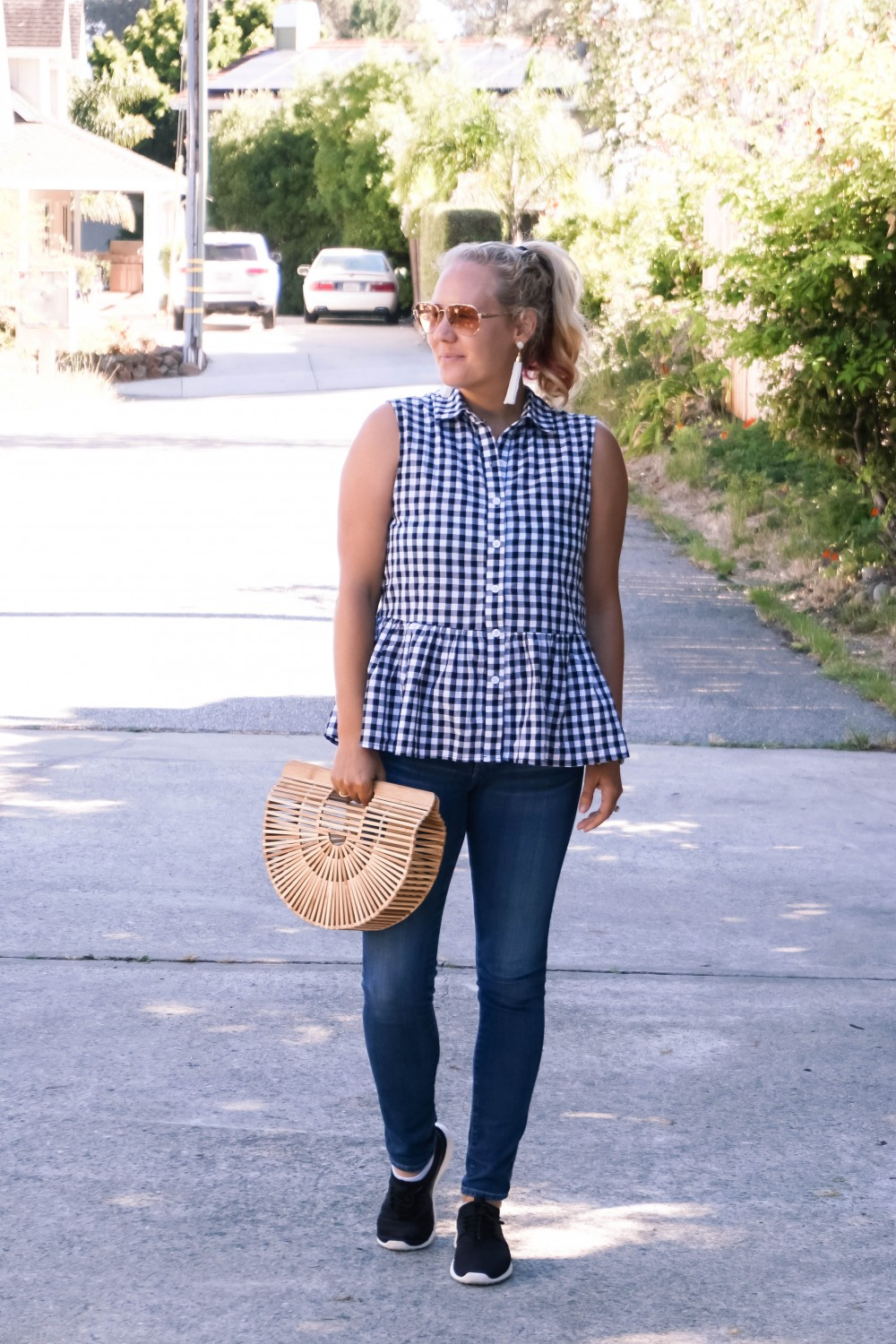 Blogger Off Duty-Daily Outfit Series-Have Need Want-Romwe Gingham Bow Top-Gingham Top-Summer Style-Mom Style-Stylish Moms-Outfit Inspiration 4