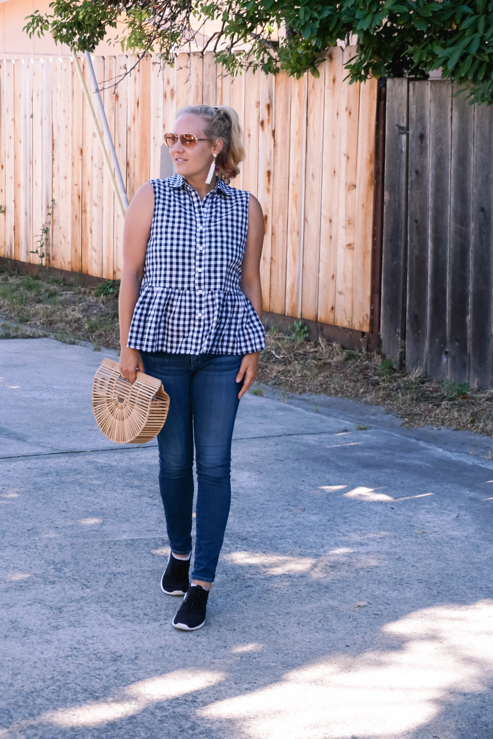 Blogger Off Duty-Daily Outfit Series-Have Need Want-Romwe Gingham Bow Top-Gingham Top-Summer Style-Mom Style-Stylish Moms-Outfit Inspiration 5