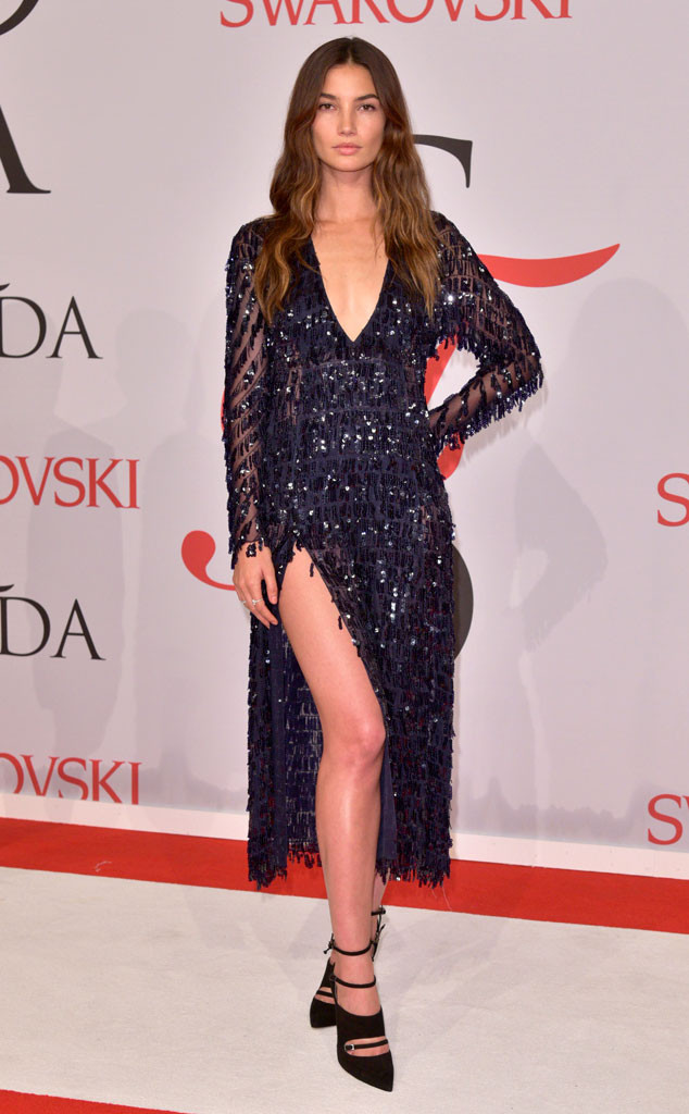 CFDA Awards Lily Aldridge Thakoon Beaded Dress