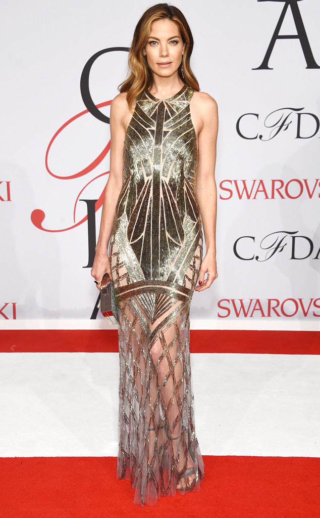 CFDA Fashion Awards Michelle Monaghan Monique Lhuillier Sheer Embriodered Dress