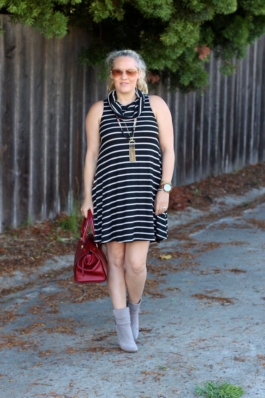cowl-neck-shift-dress-have-need-want-steve-madden-booties-burberry-handbag-bay-area-fashion-blogger-10