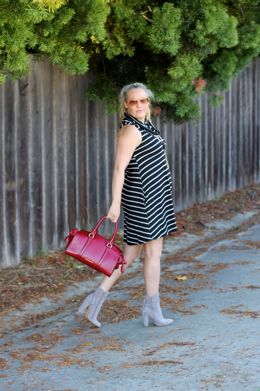 cowl-neck-shift-dress-have-need-want-steve-madden-booties-burberry-handbag-bay-area-fashion-blogger-11