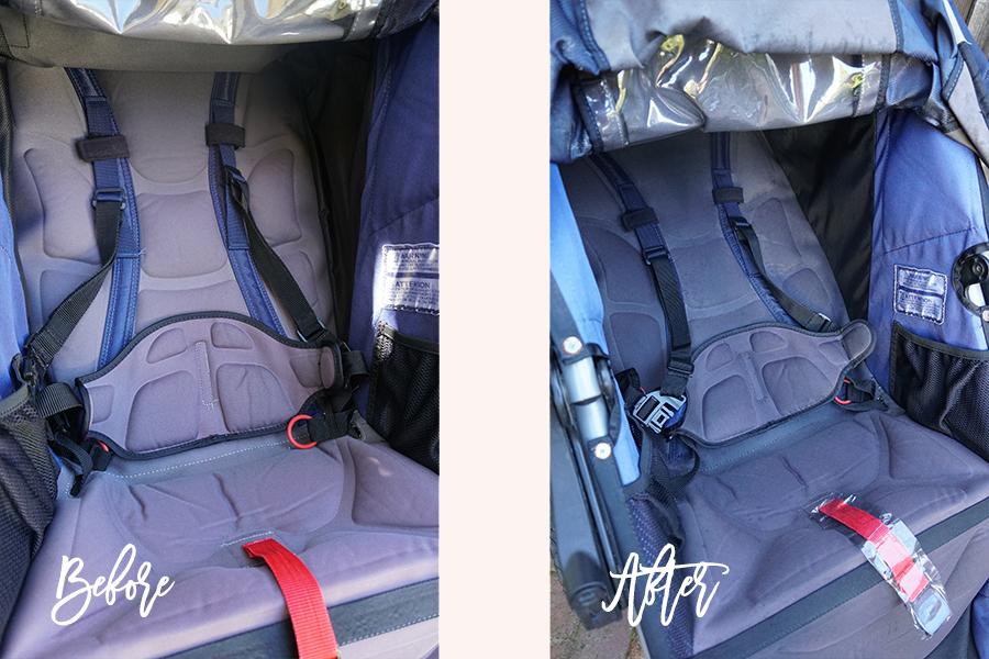 DIY Fabric Paint for BOB Jogging Stroller-Sun Faded Stroller DIY-Upholstery Paint-Weekend DIY 2