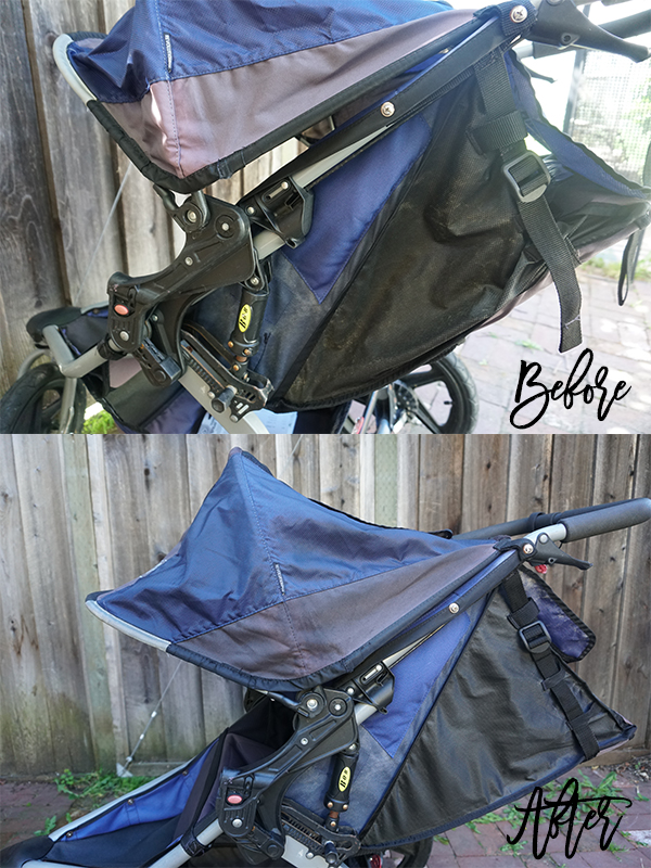 DIY Fabric Paint for BOB Jogging Stroller-Sun Faded Stroller DIY-Upholstery Paint-Weekend DIY 4