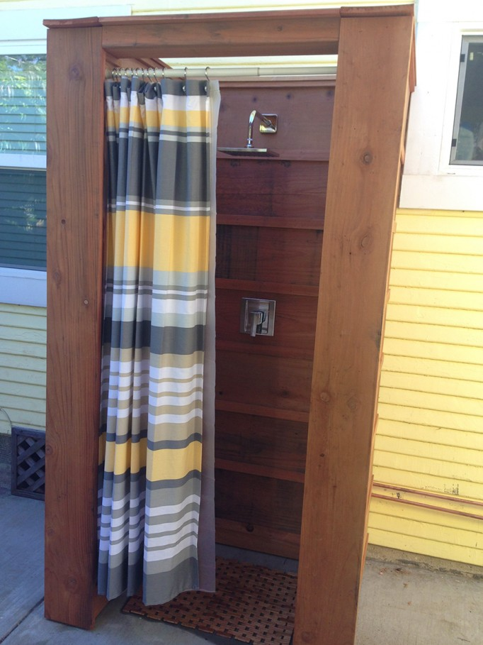 DIY Outdoor Shower What to consider when building an outdoor shower 7