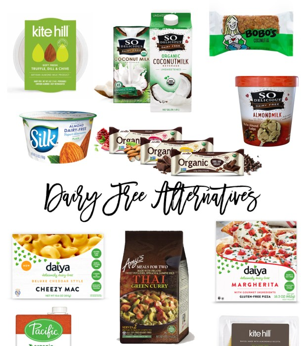 My go-to Dairy Free Products
