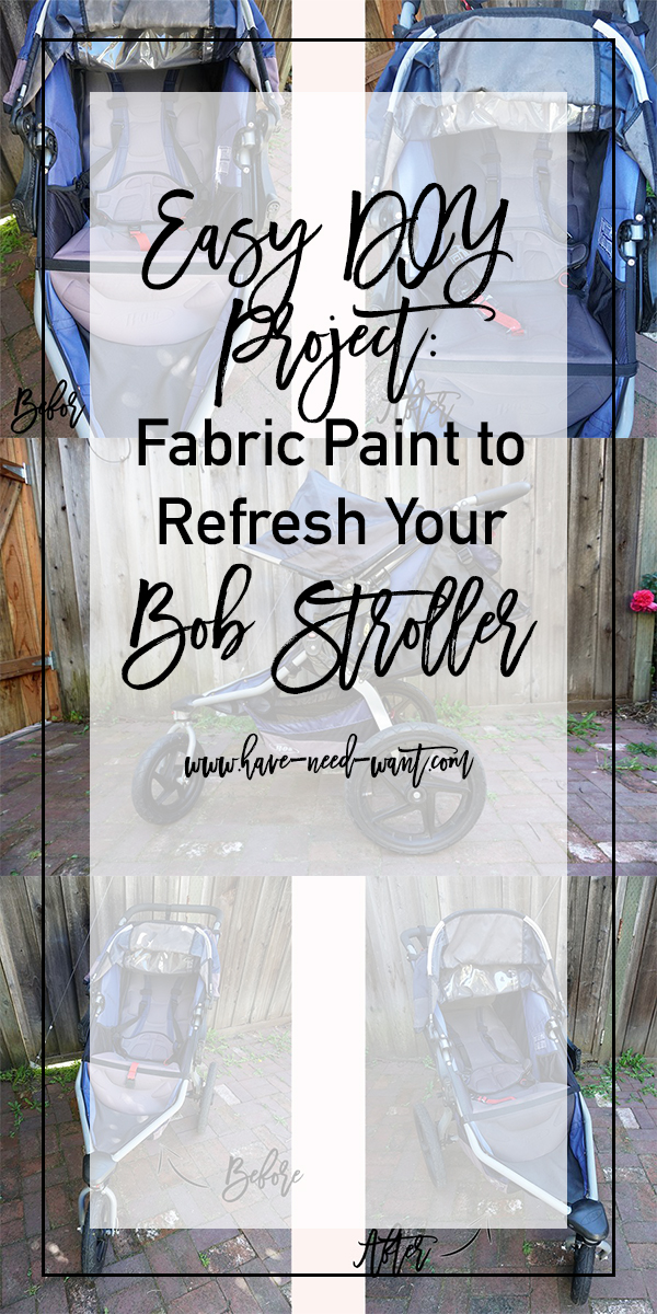 Easy DIY Project to Refresh Your Sun-Faded Bob Stroller - Have Need Want