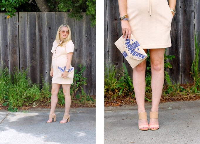 English Factory Lace Up Dress-Bay Area Blogger-Outfit Inspiration-Maternity Style-Stella & Dot Clutch-Summer Style-Pregnancy Style-Have Need Want 10