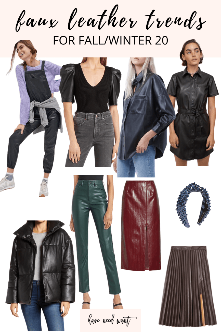 6 faux leather trends for fall that you need to jump on! #fauxleather #fallfashiontrends