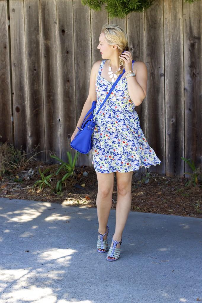 Floral Print Summer Dress Joie Clothing Summer Dress Kate Spade Fashion Blogger Summer Style 2