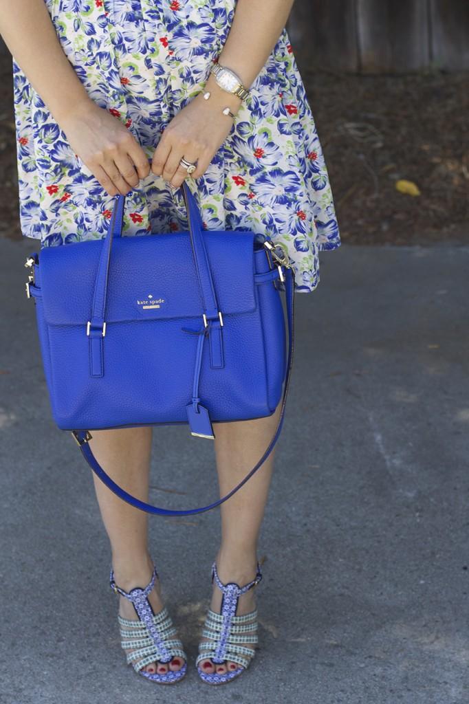 Floral Print Summer Dress Joie Clothing Summer Dress Kate Spade Fashion Blogger Summer Style 7