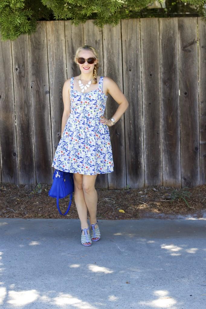Floral Print Summer Dress Joie Clothing Summer Dress Kate Spade Fashion Blogger Summer Style 8