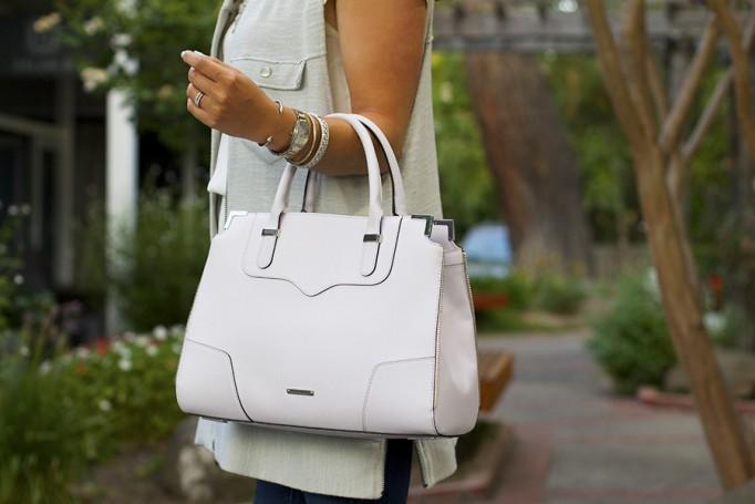 Free People Vest Miu Miu Patent Leather Peep-toe pumps Rebecca Minkoff Handbag Embellished top Fashion Blogger 6