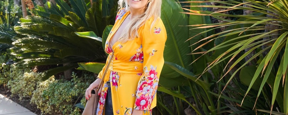 How to Style: Free People Yellow Floral Duster