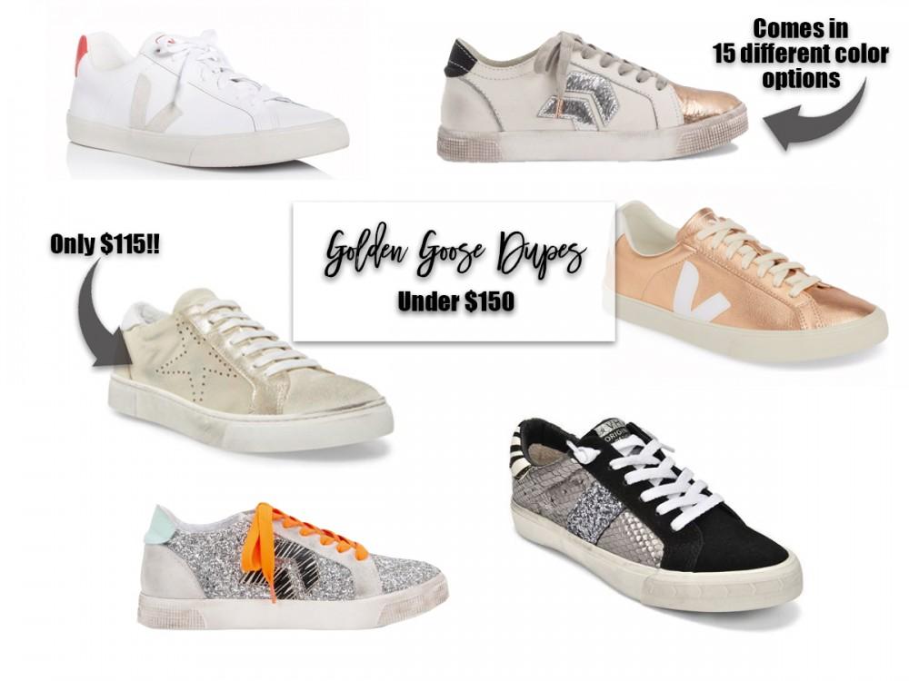 Goose Dupes Under $150. #goldengoose #goldengoosedupes #sneakers #distressedsneakers