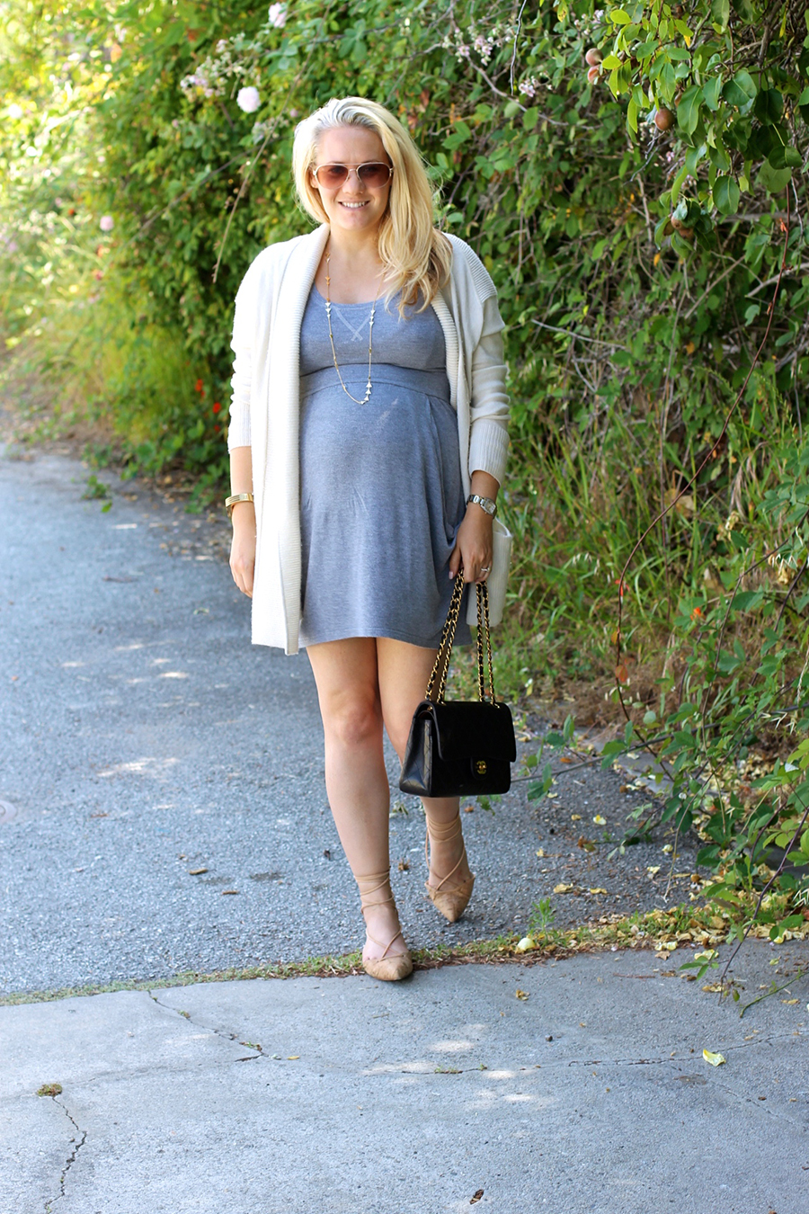 Grey Jersey Mini Dress-Maternity Style-Outfit Inspiration-Pregnancy Style-Have Need Want 6