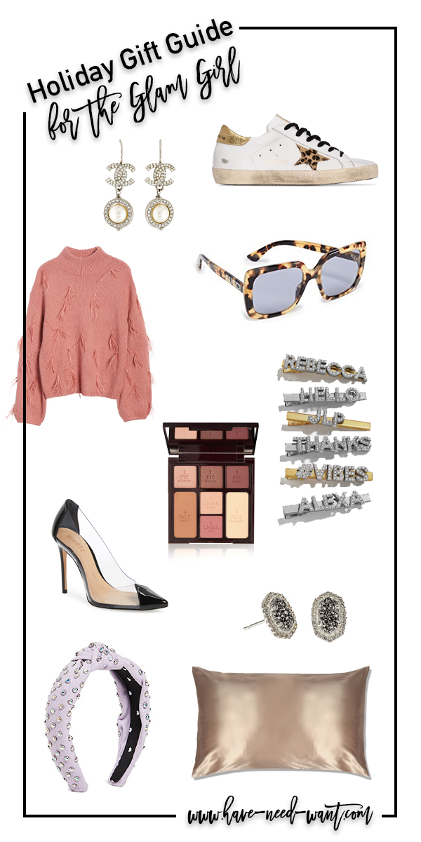 Sharing some great gift ideas for the glam girl on your list. These items will compliment her already glam wardrobe! #glamgirl #holidaygifts #giftideas #giftsforher #trendinggifts