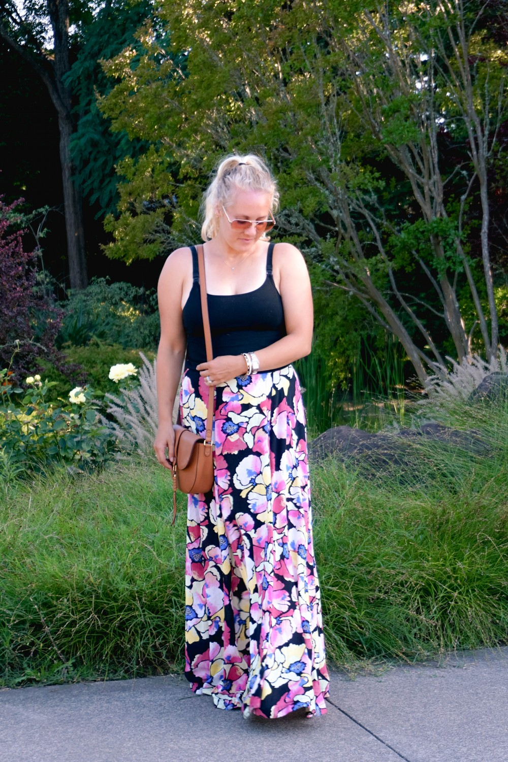 Hot Tropics Floral Maxi Skirt-Free People Floral Maxi Skirt-Outfit Inspiration-Wine Country-Mom Style-Nursing Top-Have Need Want 2