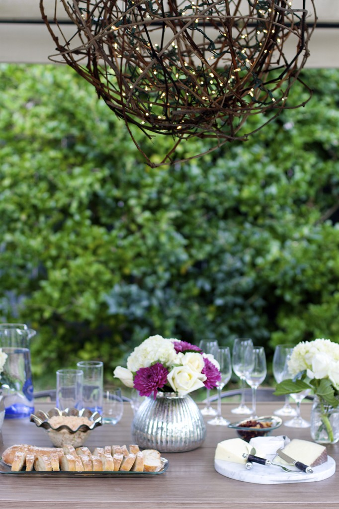 outdoor entertaining, annie glass, santa cruz, wine party, outdoor soiree