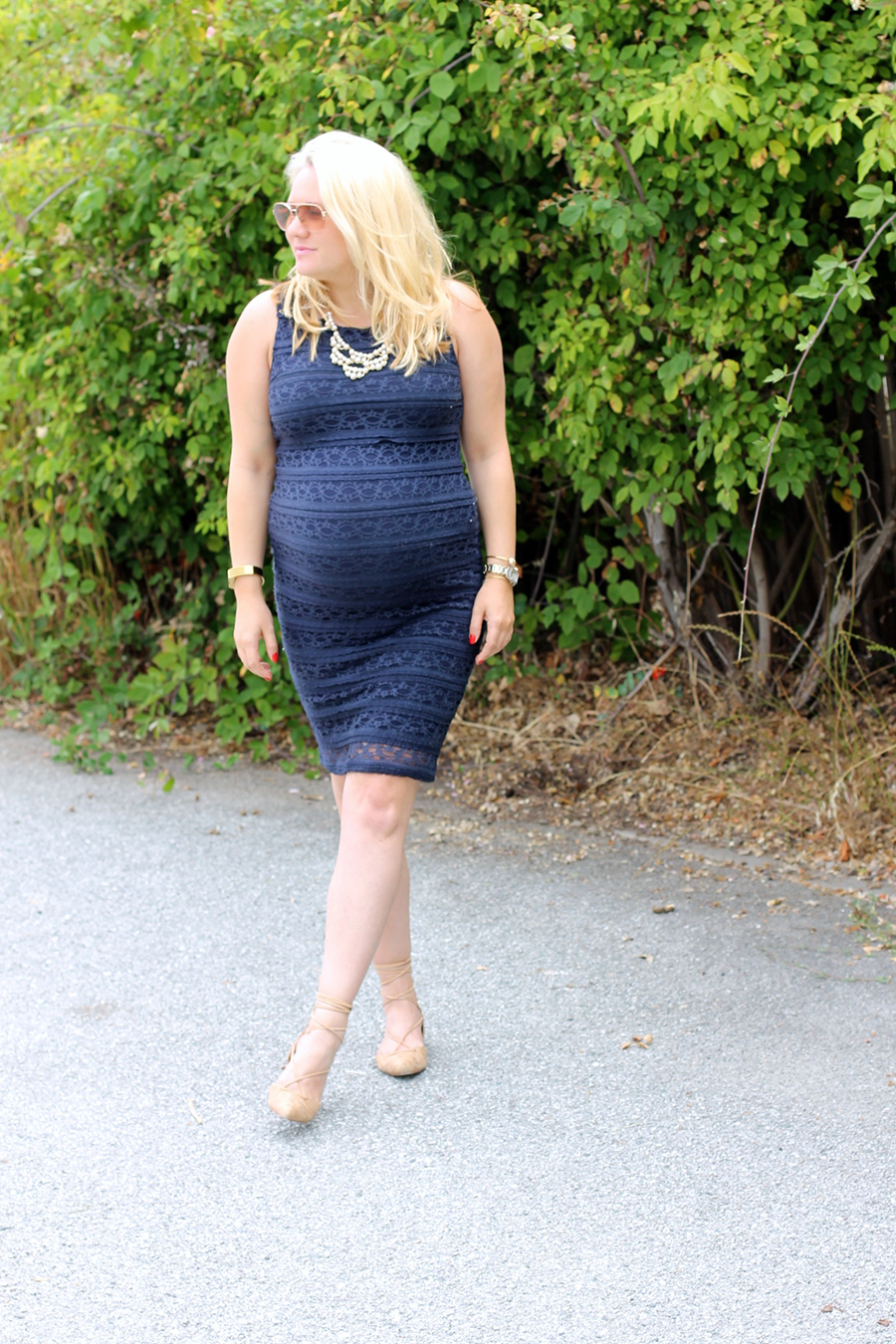 Ingrid and Isabel navy lace dress-Maternity Style-Outfit Inspiration-Bay Area Fashion Blogger-Have Need Want-Pregnancy Style 8