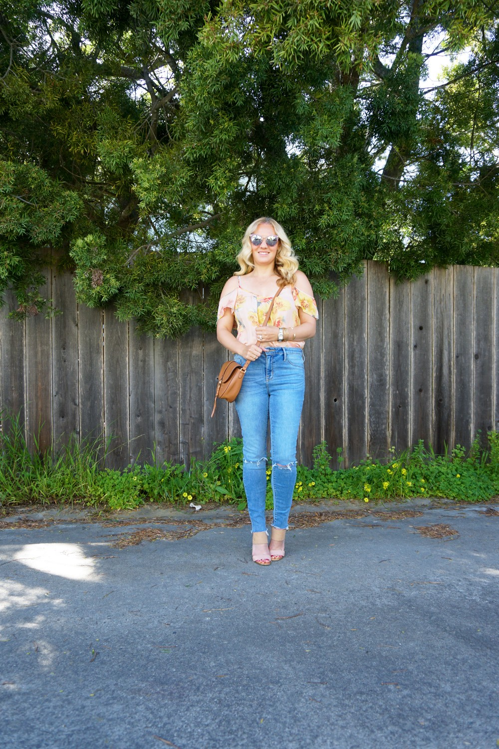 Joie Cold Shoulder Floral Blouse-Spring Style-Flutter Sleeve Blouse-Outfit Inspiration-Have Need Want 5