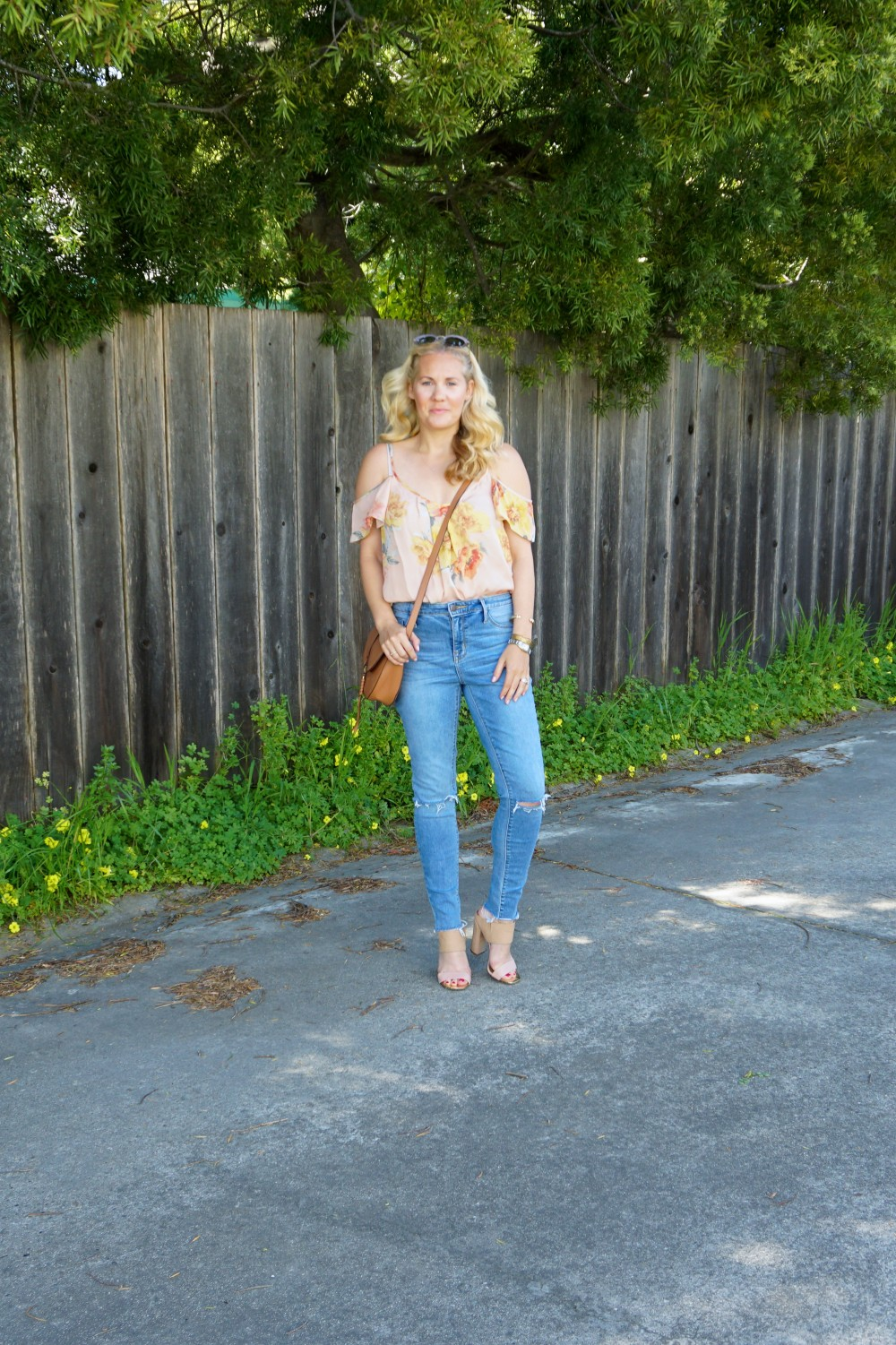 Joie Cold Shoulder Floral Blouse-Spring Style-Flutter Sleeve Blouse-Outfit Inspiration-Have Need Want
