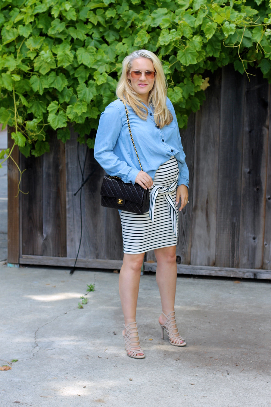 Kingdom & State-Tie Front Skirt-Maternity Style-Pregnancy Style-Chambray Top-Target Style-Have Need Want 7