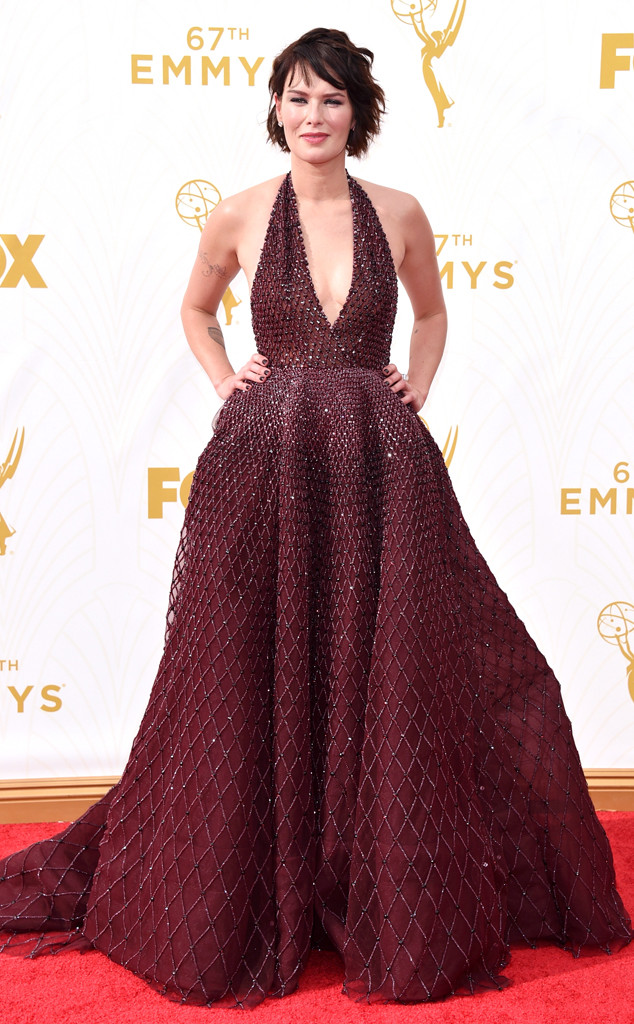 Lena Headey-Zuhair Murad-Emmy's Red Carpet-2015 Emmys-Red Carpet Arrivals-Best Dressed