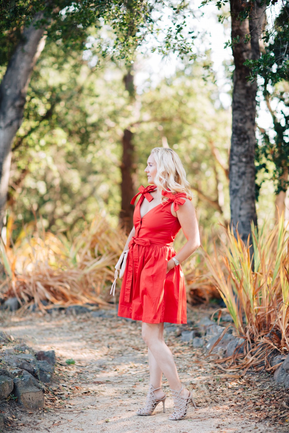 Little Red Dress-Alexis-Bow Detail Dress-Outfit Inspiration-Schutz Heels-Have Need Want 3