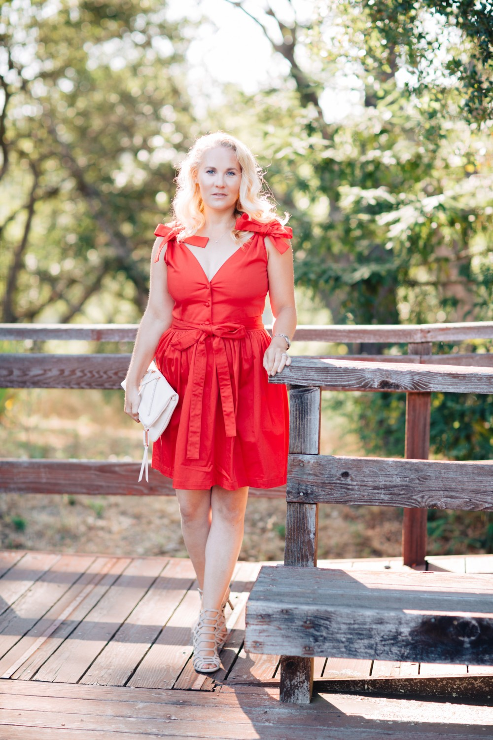 Little Red Dress-Alexis-Bow Detail Dress-Outfit Inspiration-Schutz Heels-Have Need Want